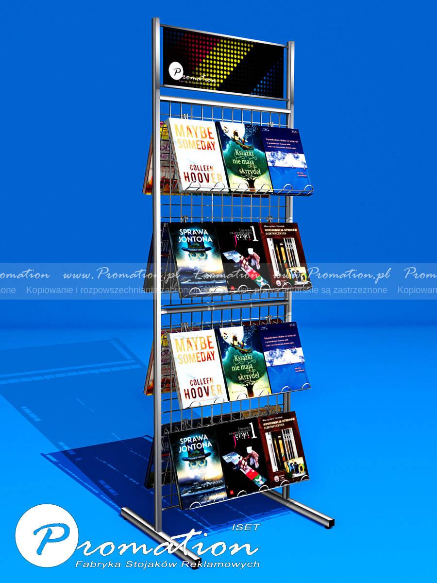dwustronny ekspozytor na książki